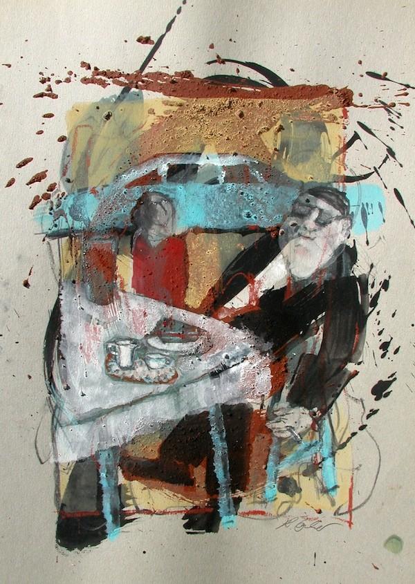 Wirtschaftswunder, Acryl/Pappe, 50 x 50 cm