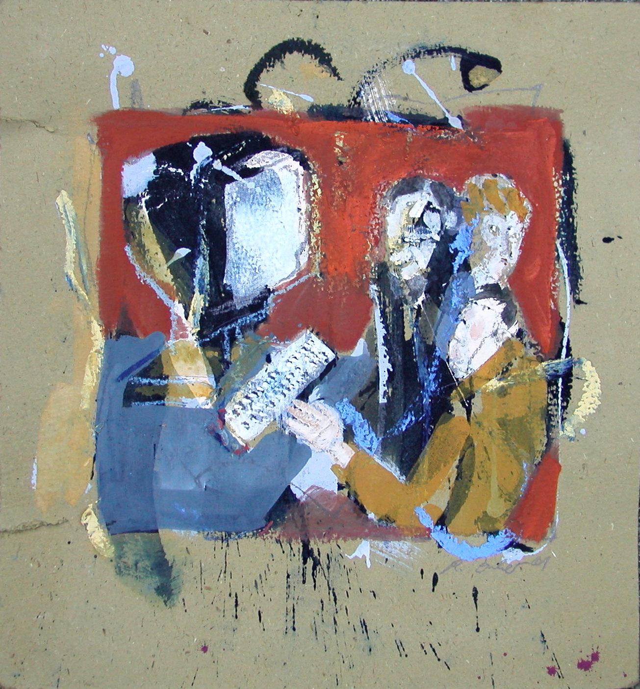 I.T./Acryl/Pappe/50 x 50 cm