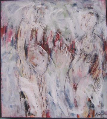 Herzrhythmuströrung | Acryl auf Leinwand | 80 x 72 cm