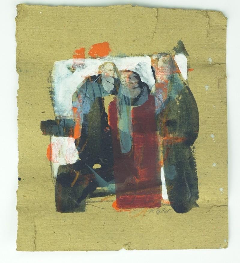 Triumvirat | Mischtechnik auf Pappe | 42 x 42 cm