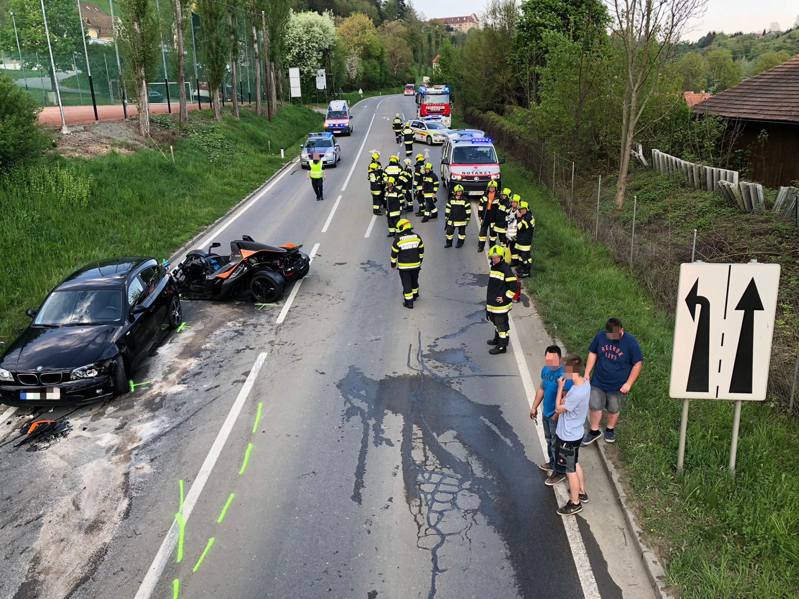 Verkehrsunfall mit eing. Person - Feuerwehr KAINDORF an der SULM