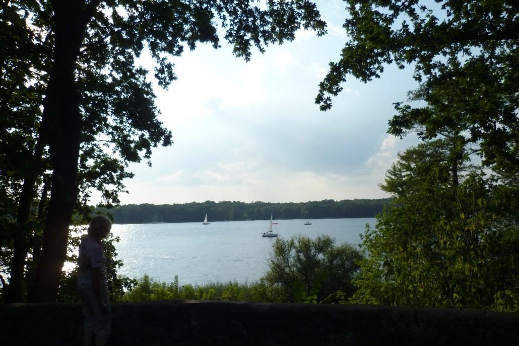 Blick von der Schildhorn-Halbinsel über die Havel nach Gatow