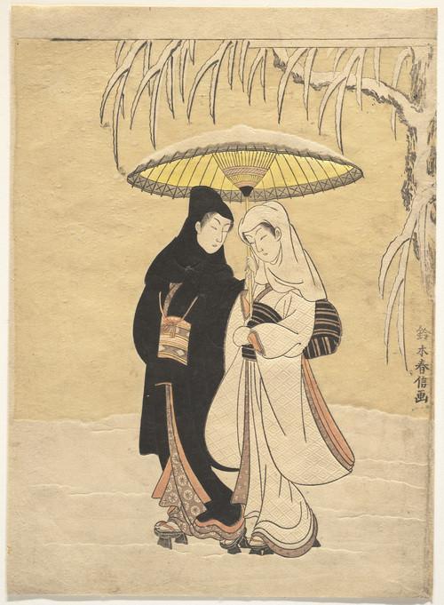 Zwei Frauen im Schnee
