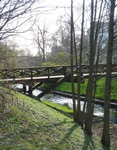 Holzbrücke über die Panke
