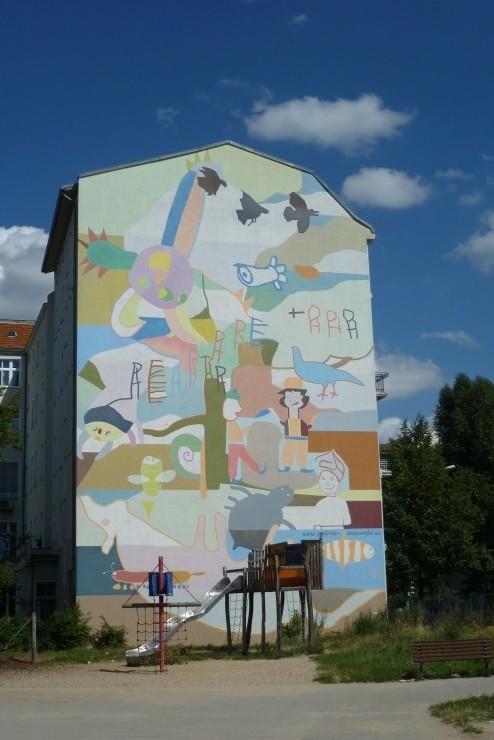 Wandbild von Marlene Jachmann, Prinzenallee 60