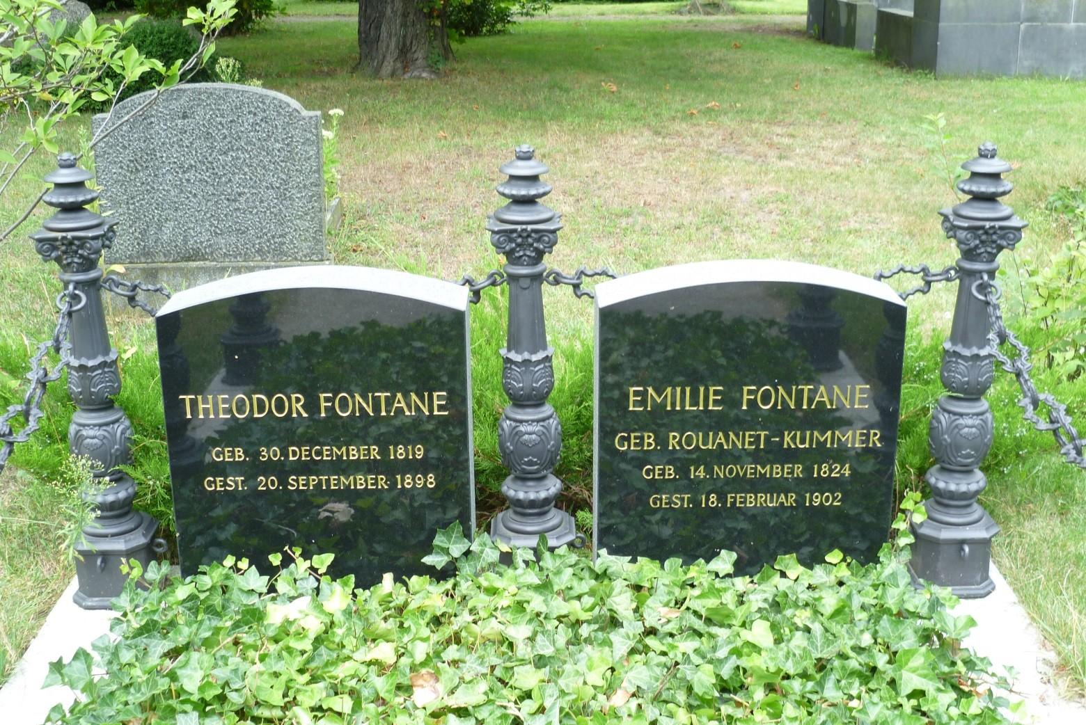 Franz. ref. Friedhof - Grabstätte Theodor Fontane  © Diana Schaal