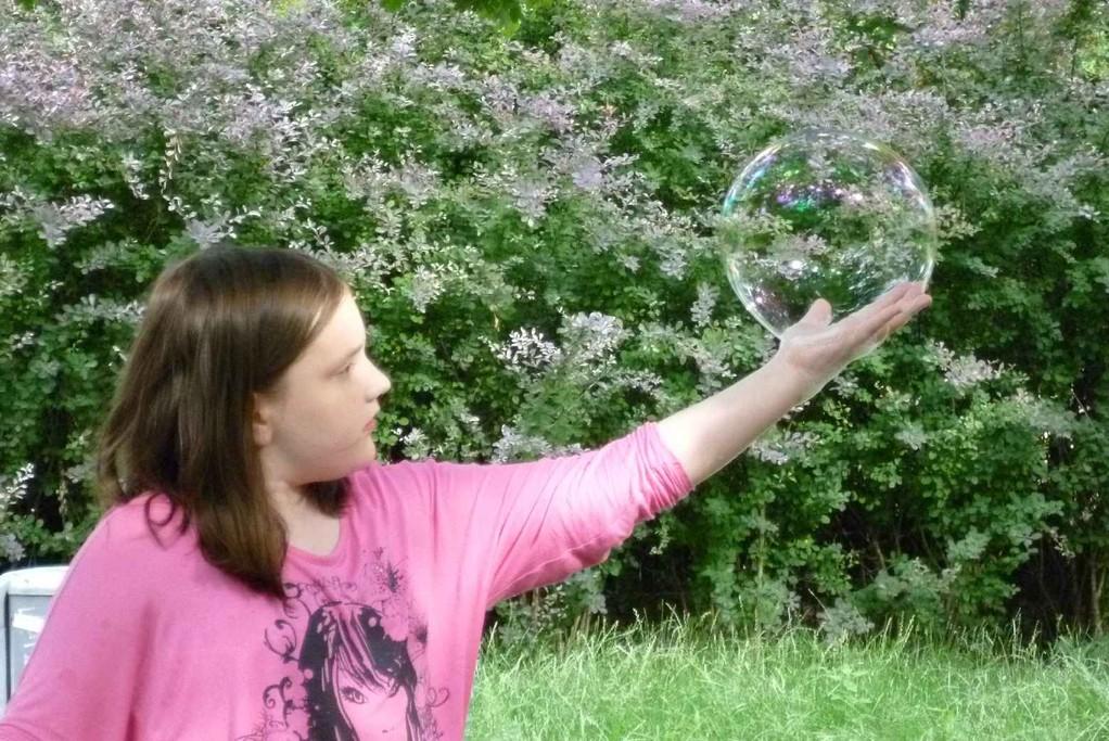 Seifenblase als Kristallkugel © Diana Schaal