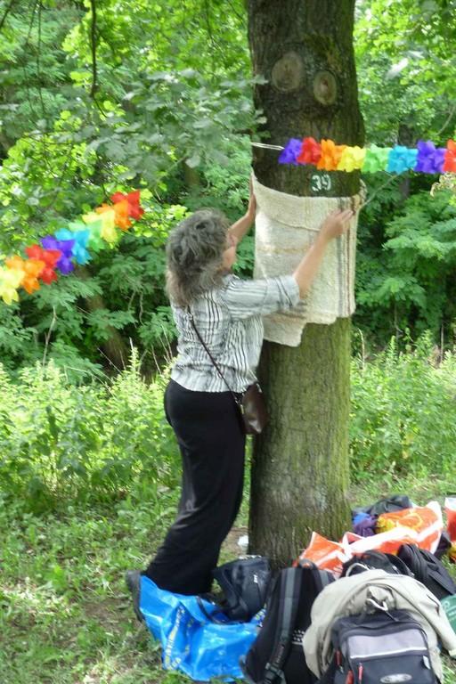 Der Baum kriegt einen Schal © Diana Schaal