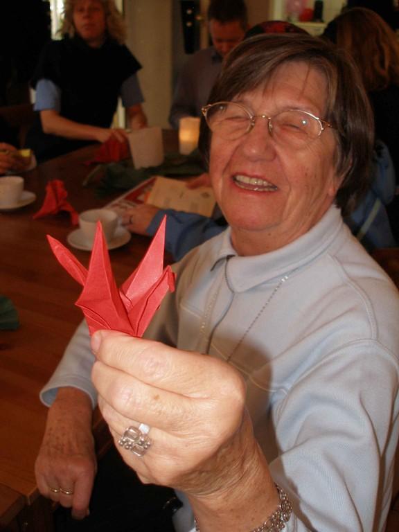 Ein Origami-Kranich! © Kerstin Kaie