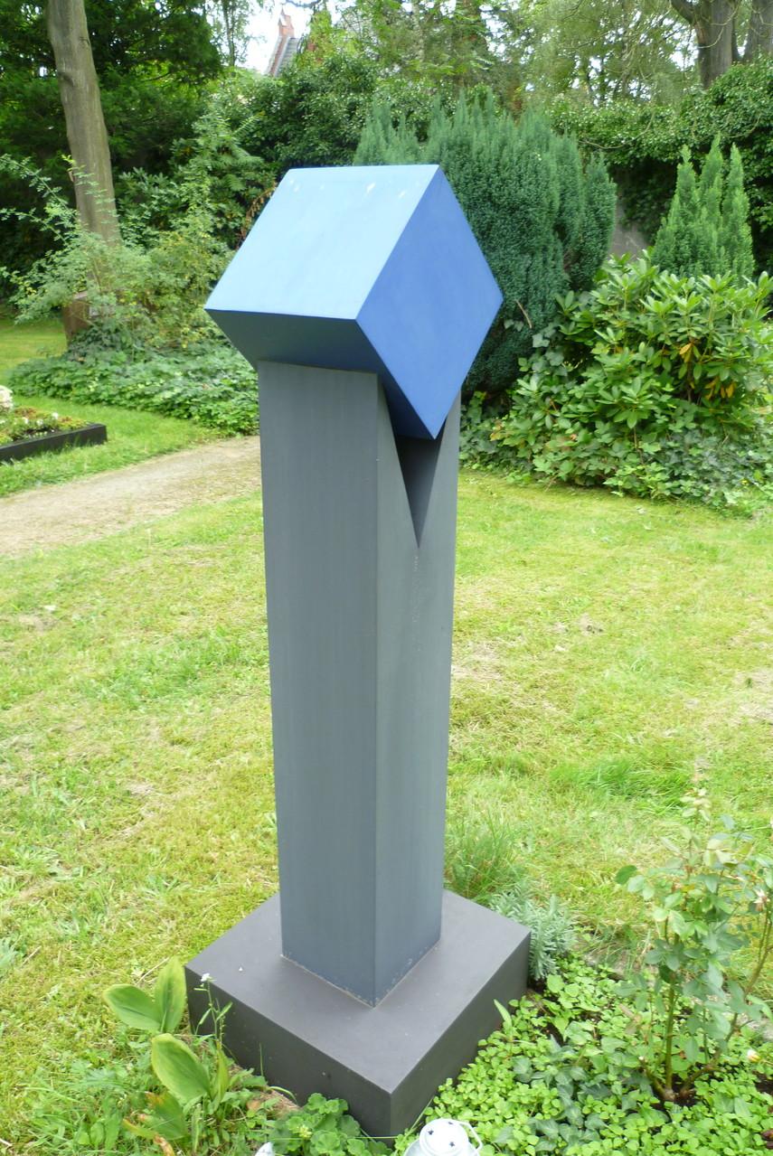 Franz. ref. Friedhof - Grabstätte Manfred Hodapp (Bildhauer)  © Diana Schaal