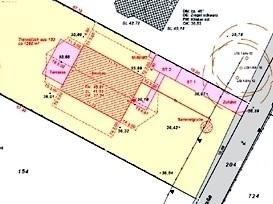Lageplan mit Projekteintragung