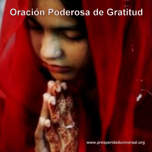 ORACIÓN PODEROSA DE GRATITUD - PROSPERIDAD UNIVERSAL - LIBRO DE AGRADECIMIENTO -www.prosperidaduniversal.org