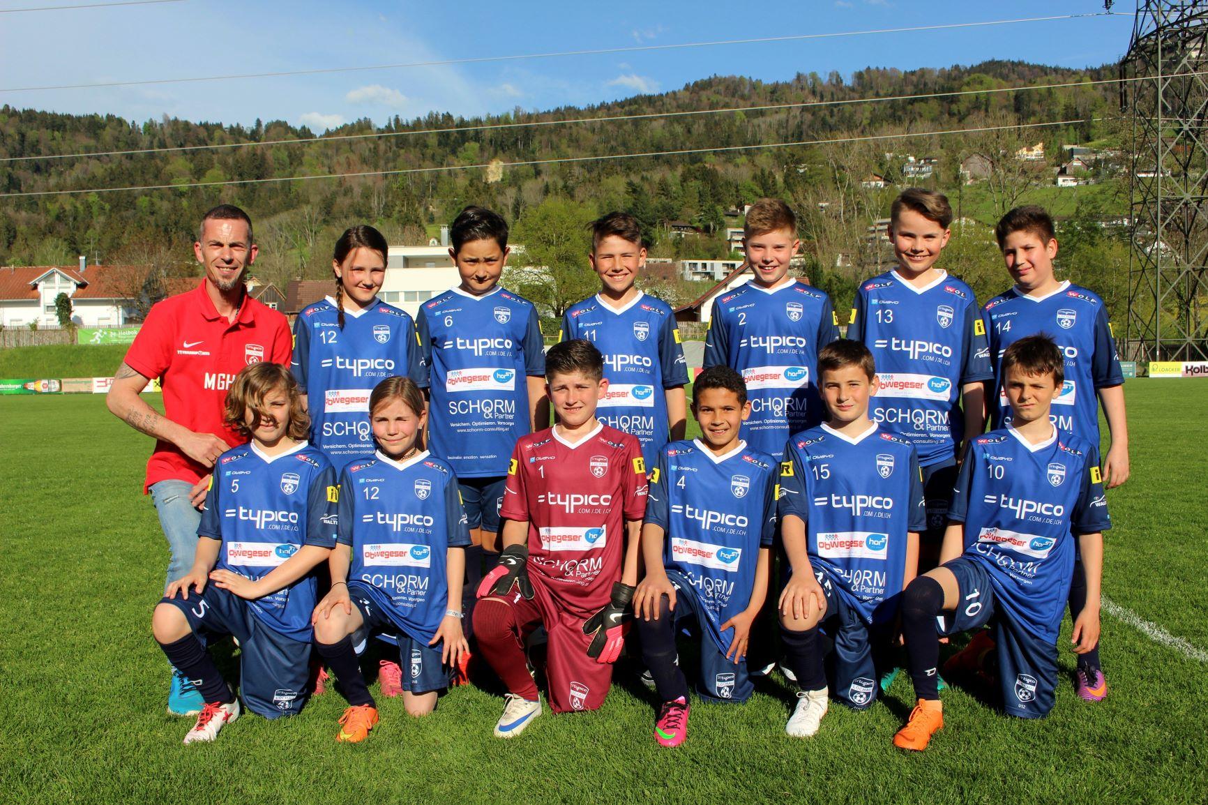U12 B mit Trainer Marco Golob-Hartl
