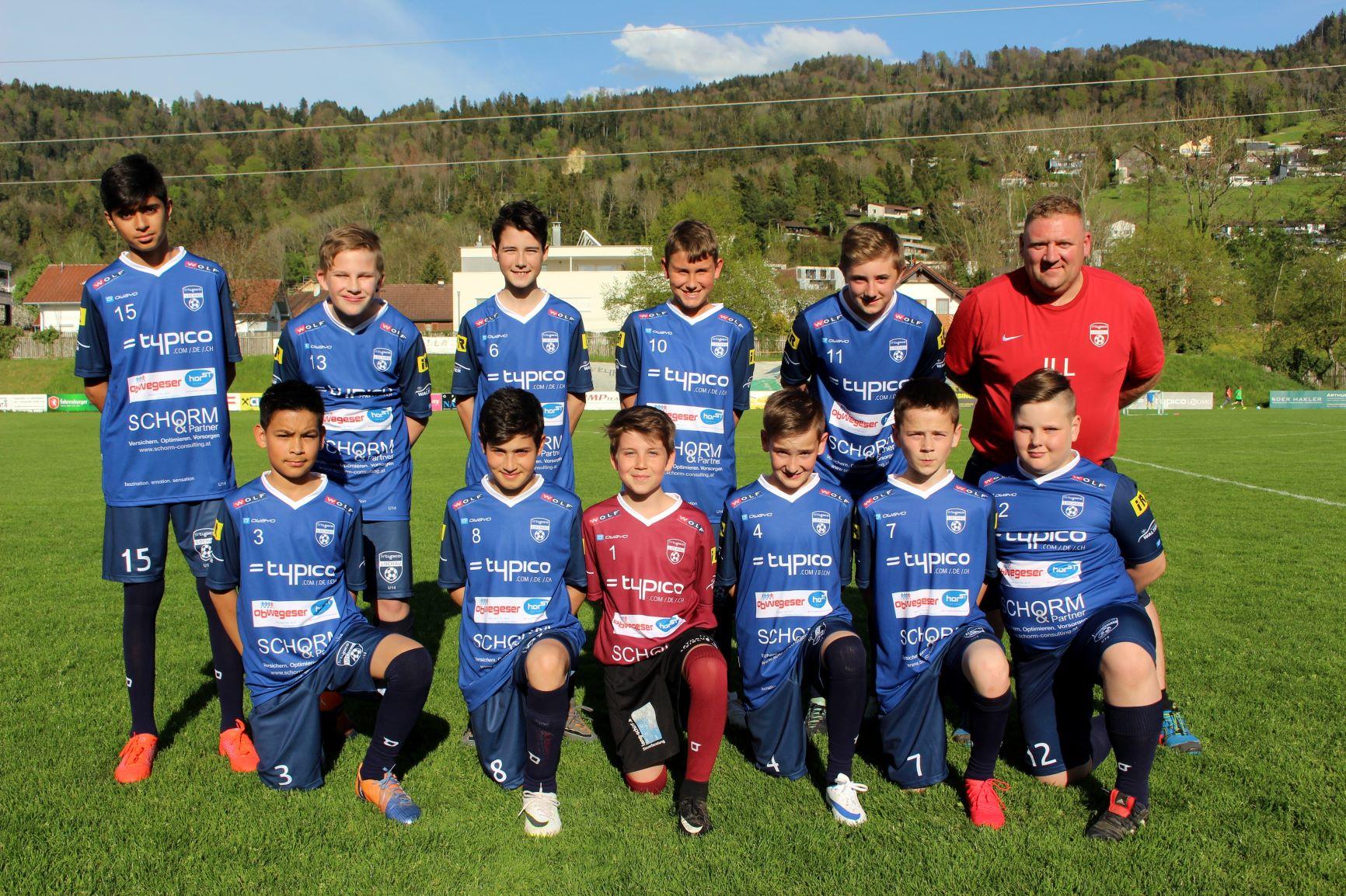 U12 A mit den Trainern Christian Ill und Roland Rupfle