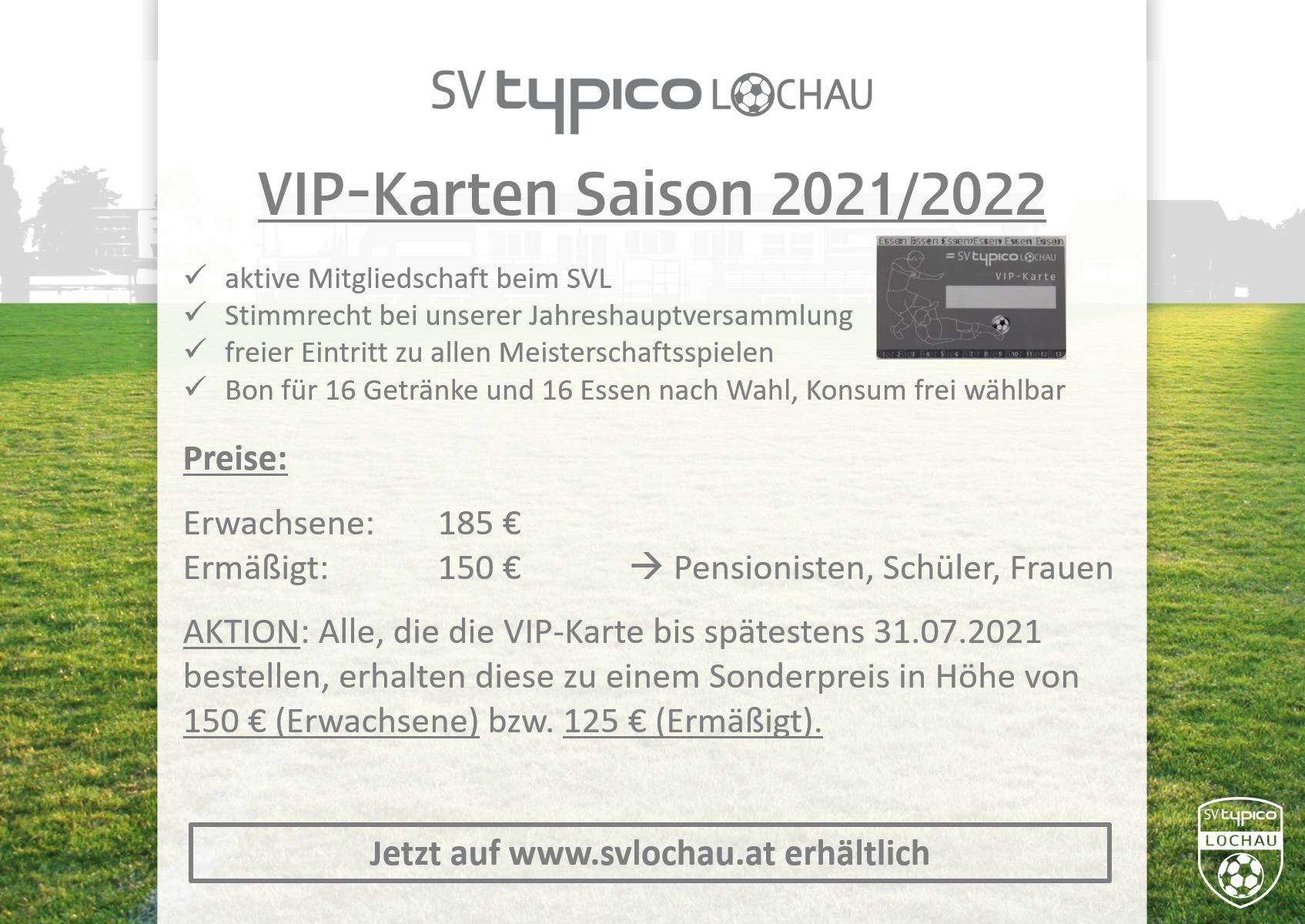 VIP-Karten 2021/2022