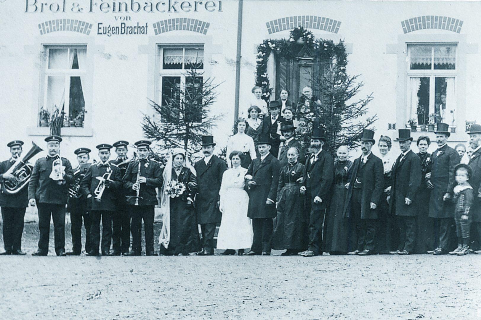 1923 - Hochzeit Brachats erstes Foto Musikverein Dingelsdorf