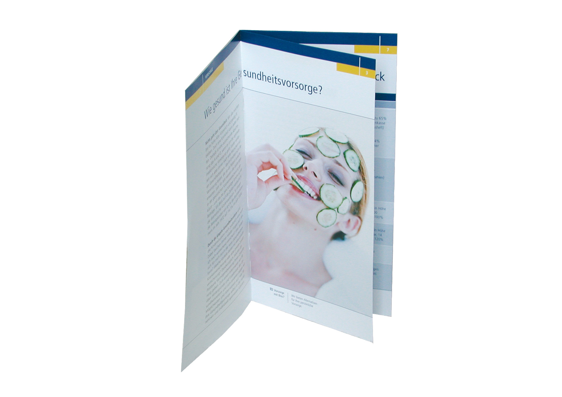 Layout & Bildauswahl Flyer Postbank