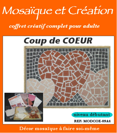 vente coffrets kits mosaique et creation mathilde l. Black Bedroom Furniture Sets. Home Design Ideas