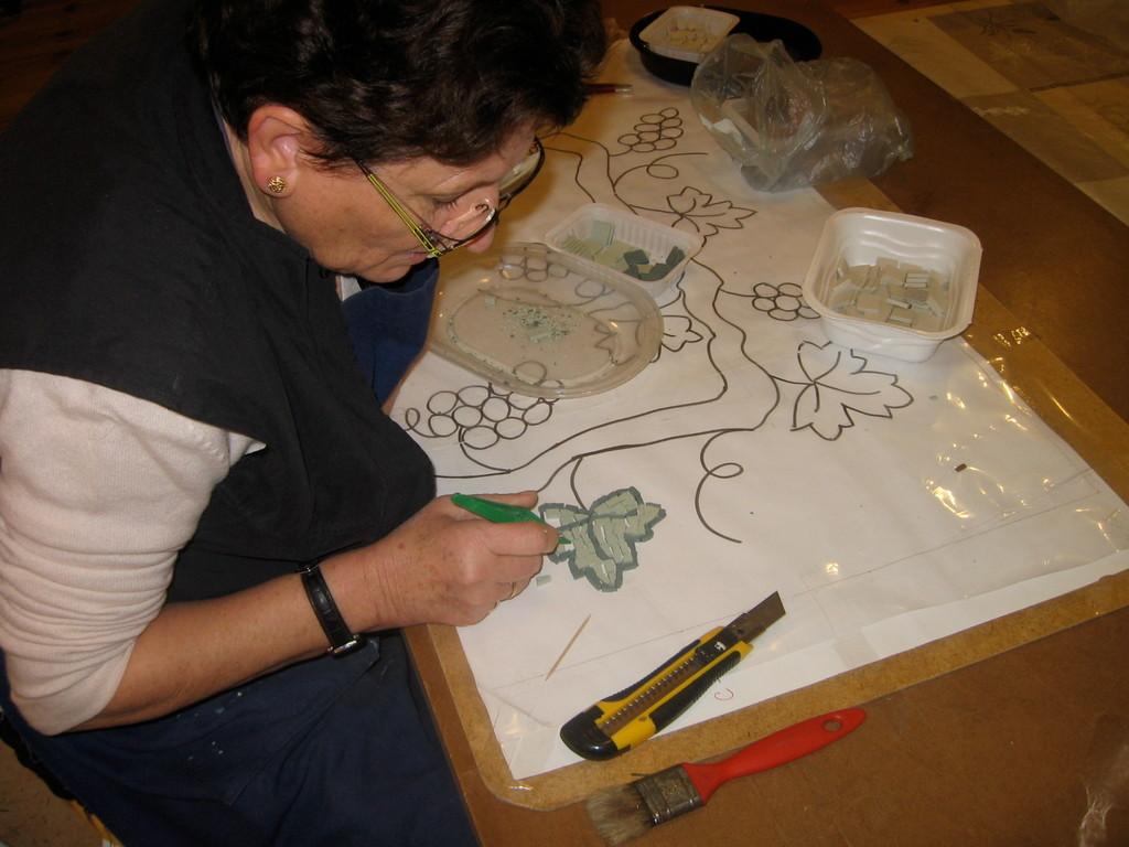 la table antique de Marie Claude, mosaïque à St Vincent Lespinasse