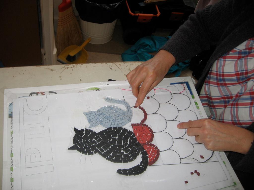 les chats de Béatrice, mosaïque à Villeneuve sur lot