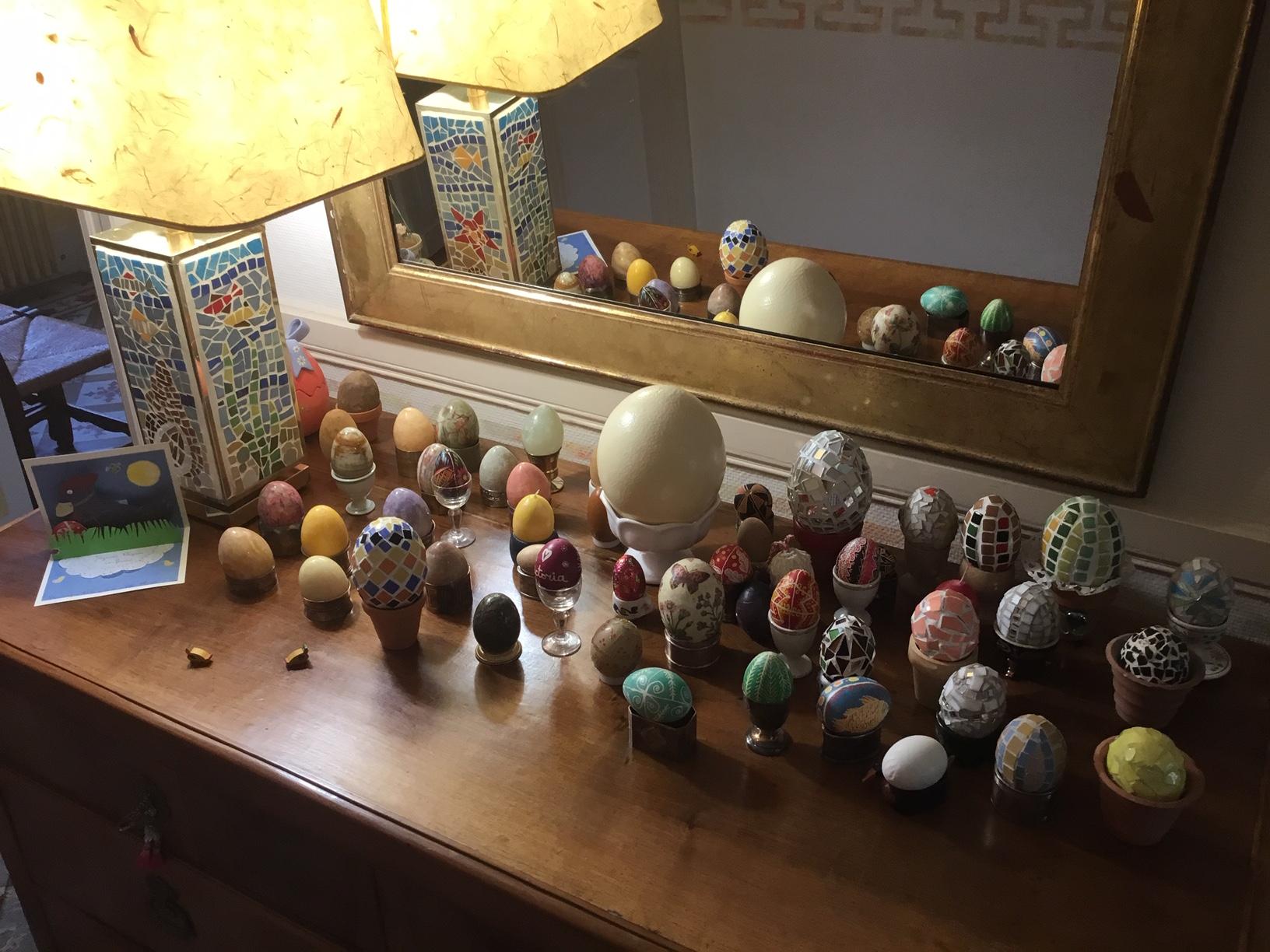 ça fait vraiment joli tous ces œufs!