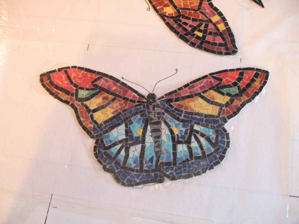 mosaïque: le deuxième papillon