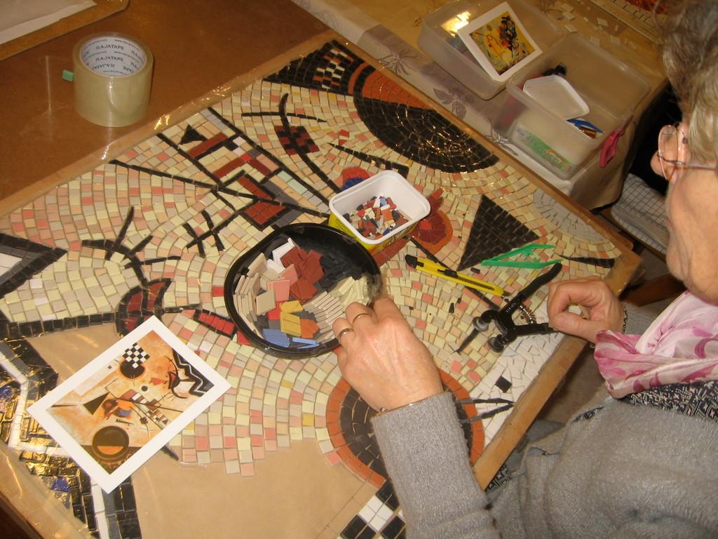tableau contemporain d'Odette, mosaïque à St Vincent Lespinasse