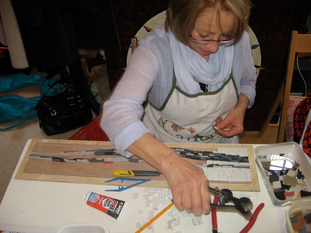 un projet contemporain pour Michèle,mosaïque à Villeneuve sur lot