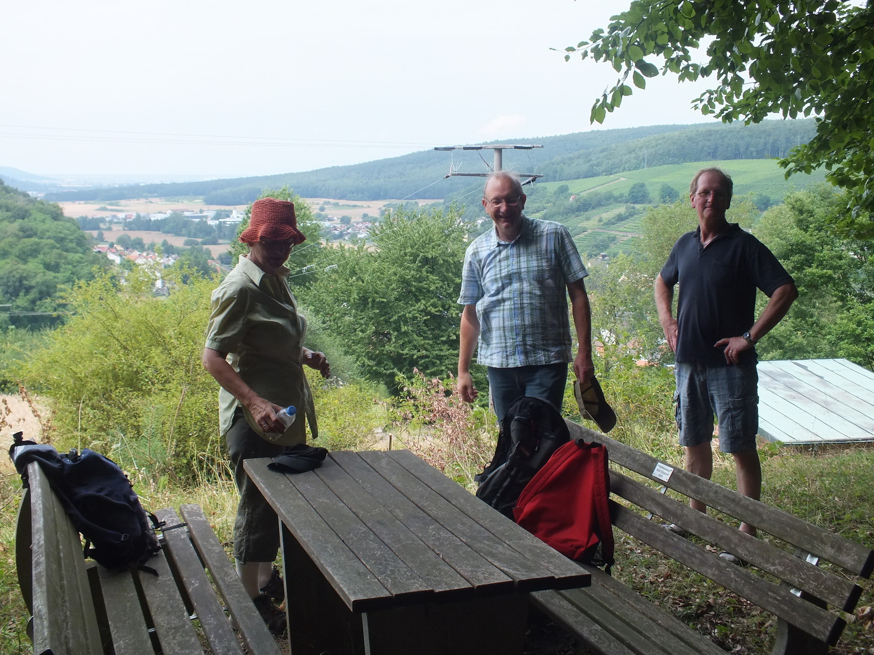 Wanderung zum Modellflugtag in Rück-Schippach