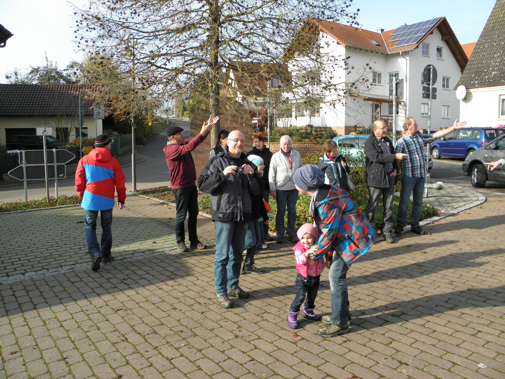 Mühlenwanderung Schollbrunn am 9. November - wir starten