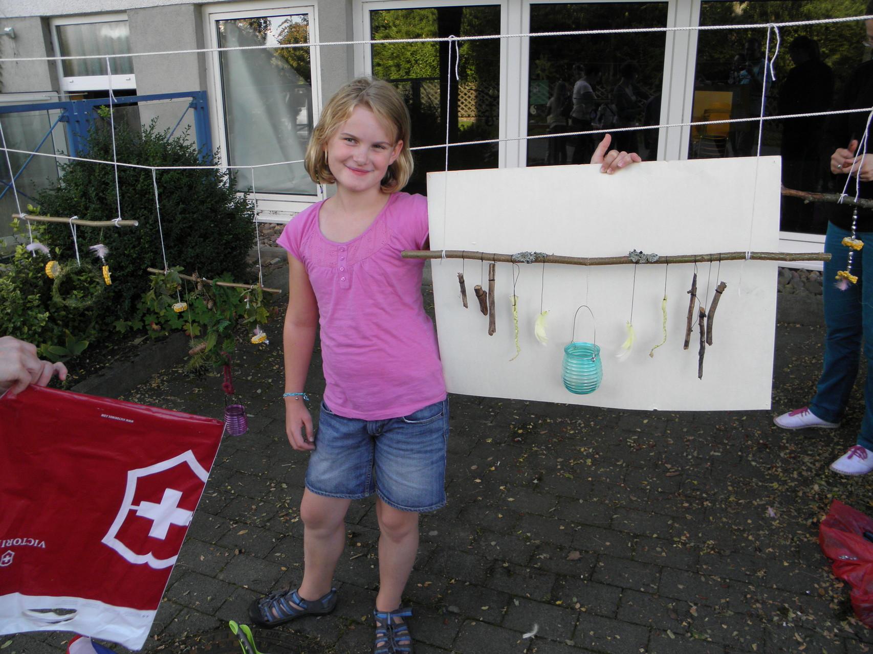 Ferienspiele 2014 - die kreative Naturwerkstatt: fertige Kunstwerke!
