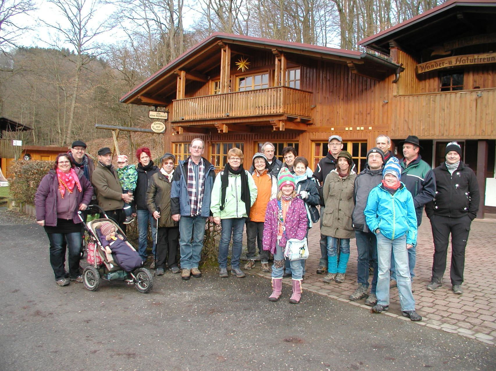 Überraschungswanderung im Januar zum Limousinhof Mespelbrunn