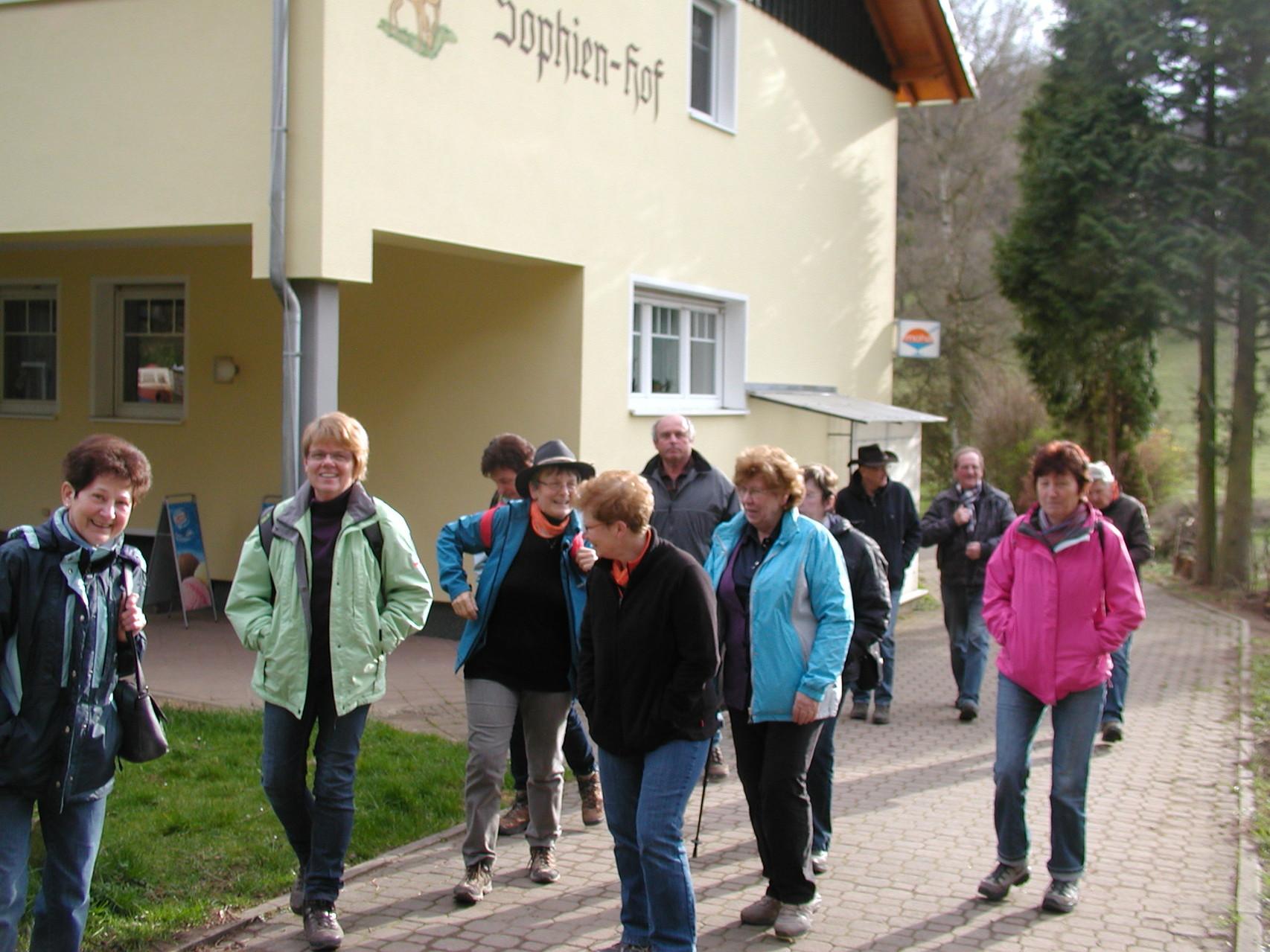 Wanderung zum Sophienhof Raibreitenbach am 23.03.14 - Der Sophienhof
