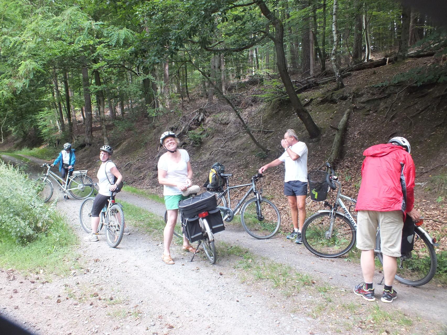 Fahrradtour am 9. August 14  - Unterwegs