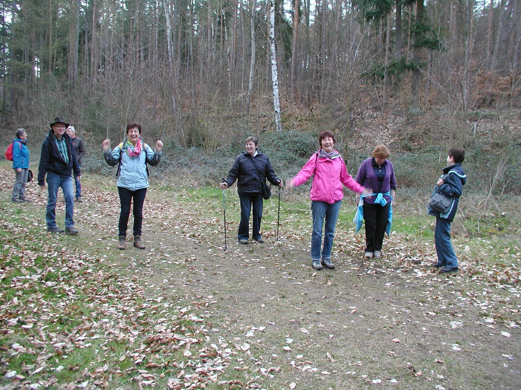 Wanderung zum Sophienhof Raibreitenbach am 23.03.14 - gut gelaunt gewandert