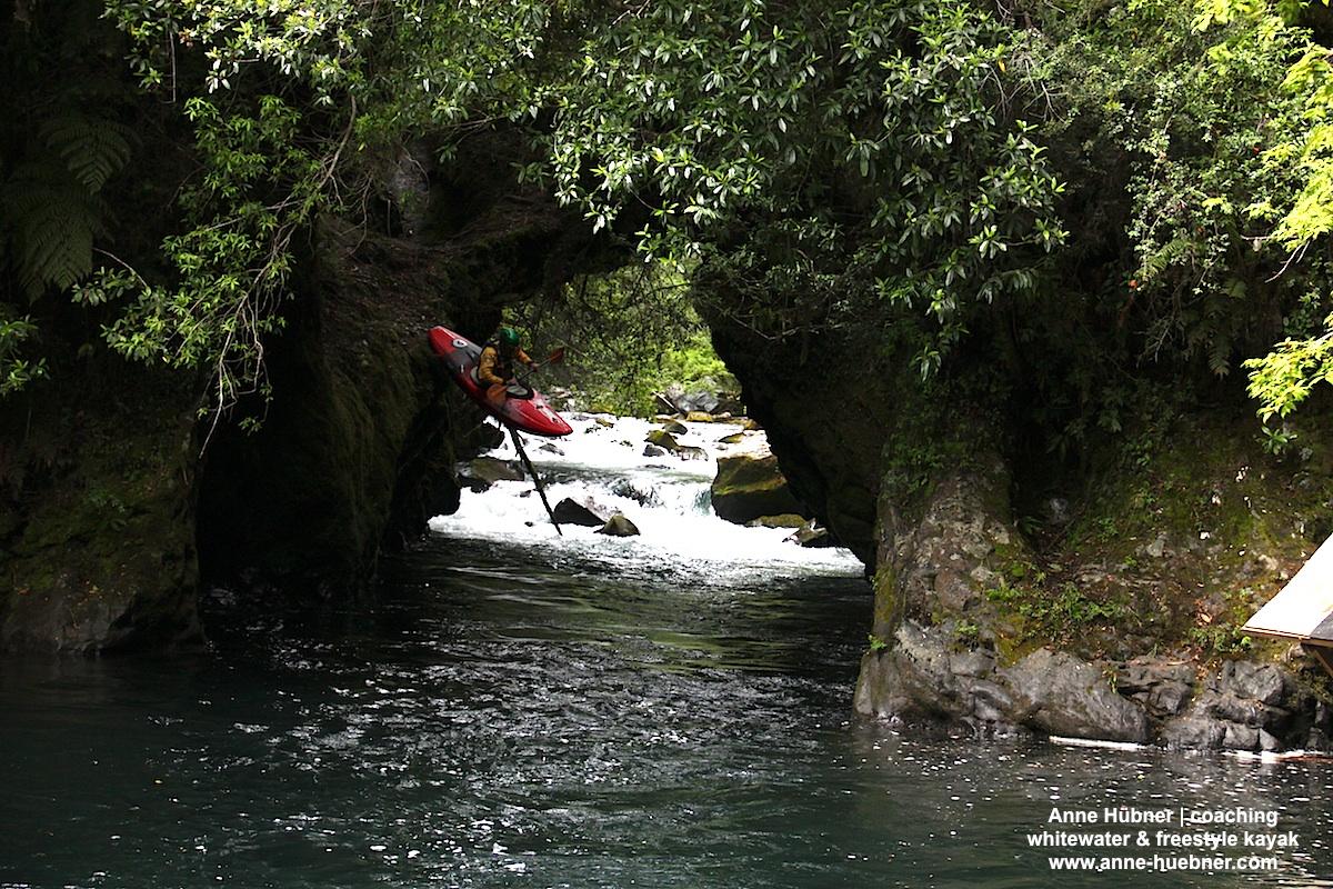 Die Naturbrücke am oberen Palguin ist immer wieder atemberaubend