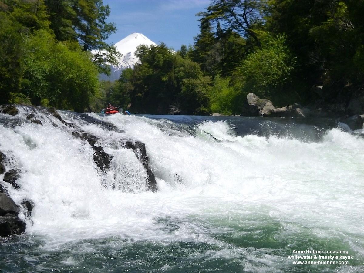 Traumhaftes Wildwasser in traumhafter Kulisse am Trancura.