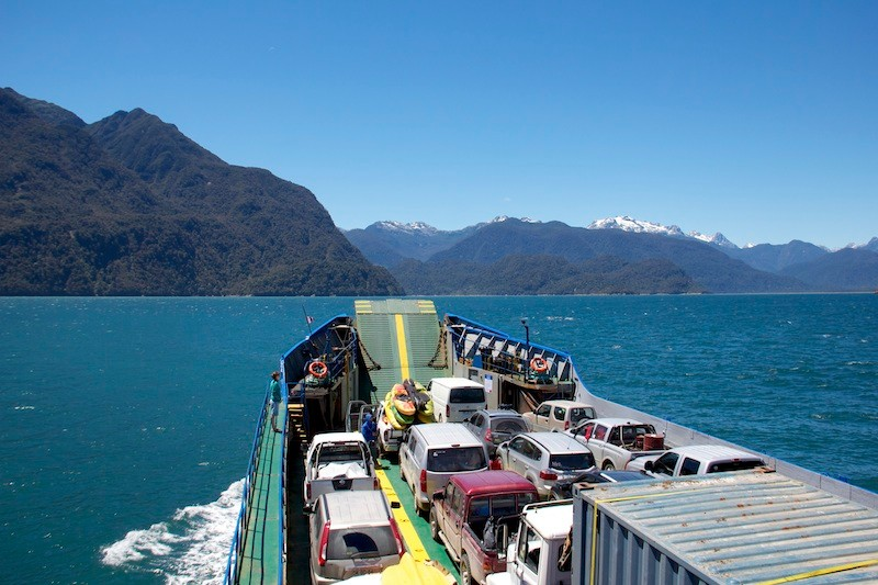 Fähre zum Futa, Chile-Trip 2013/14