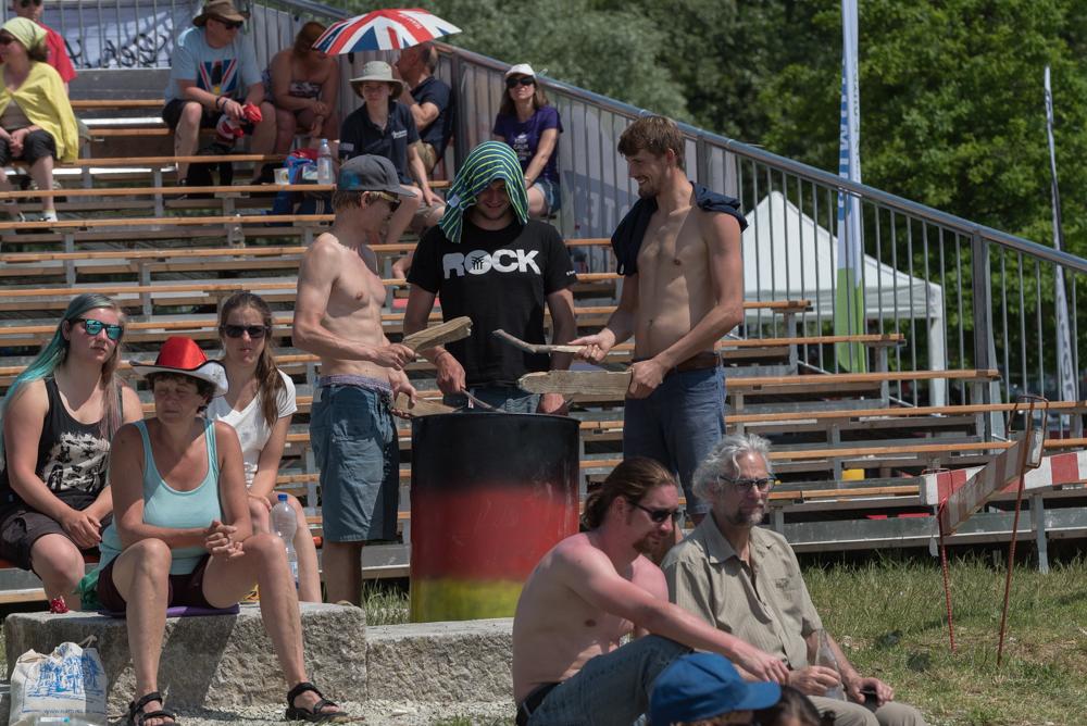 Lautstarke Unterstützung für´s deutsche Team, Foto: Birgit Stiebing