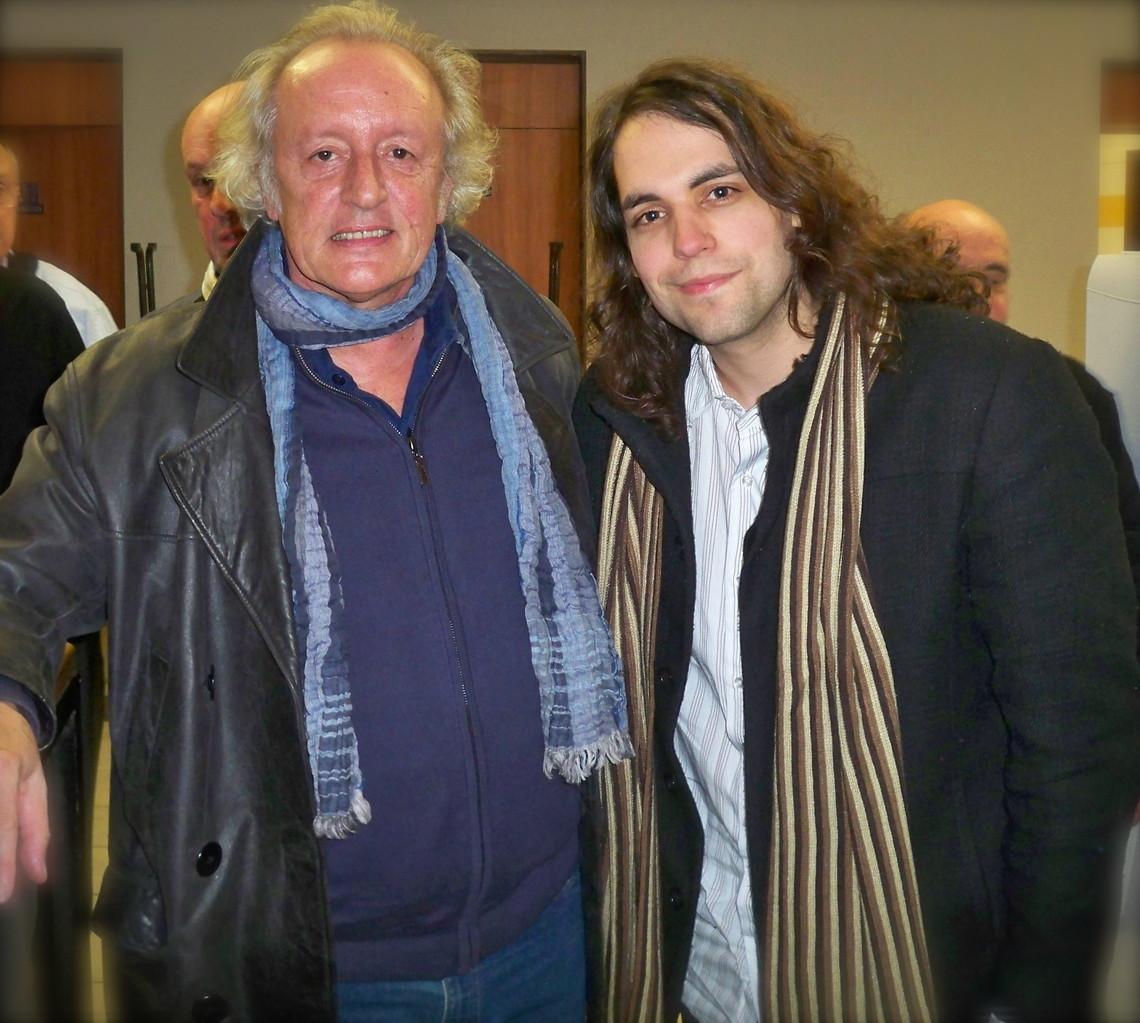 Avec Didier Barbelivien   Photo : Véronique Toulet, 2012