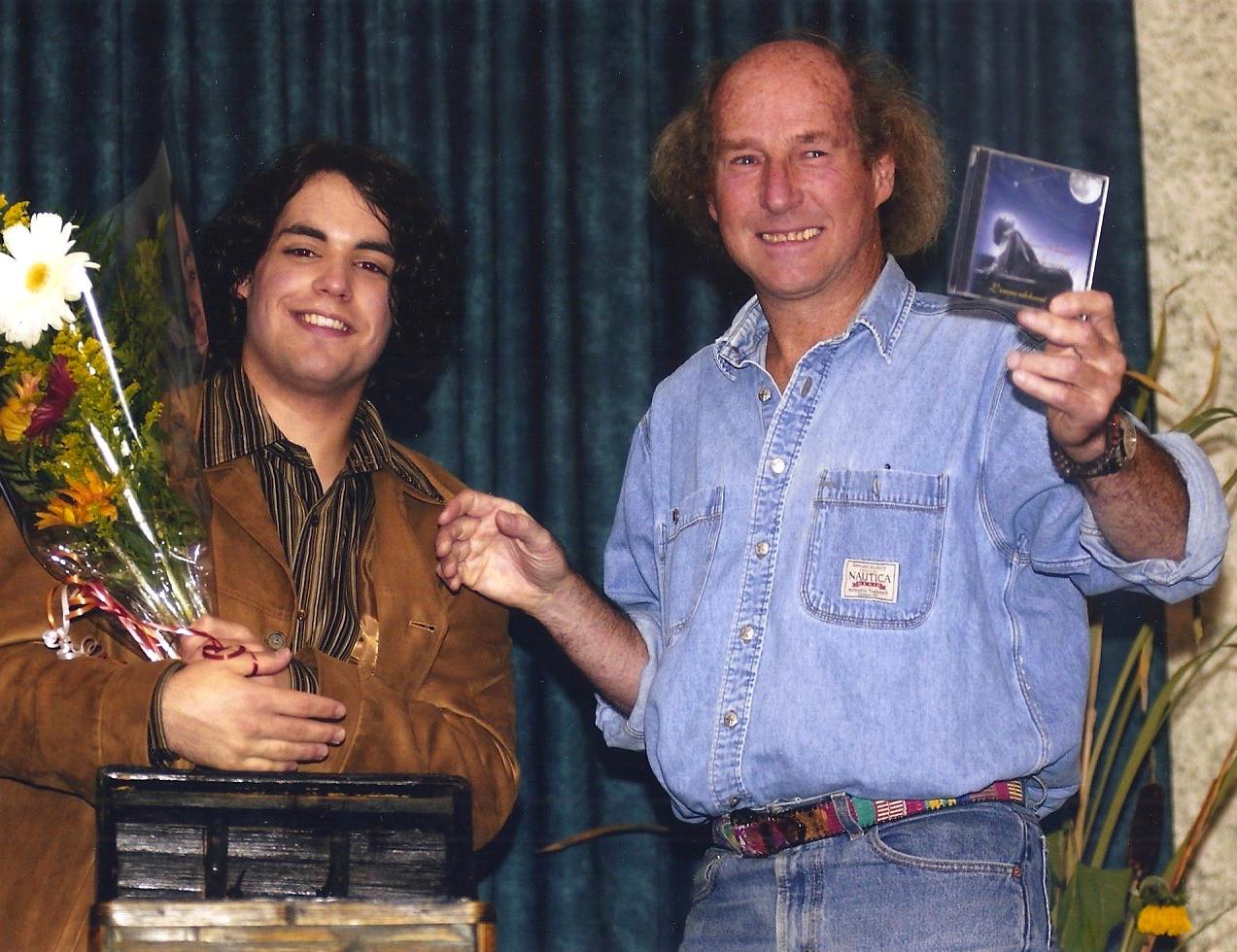 Avec Denis Champoux, 2004
