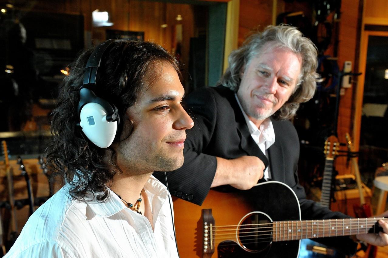 Avec Guy St-Onge   Photo : Pierre Rochette, 2010