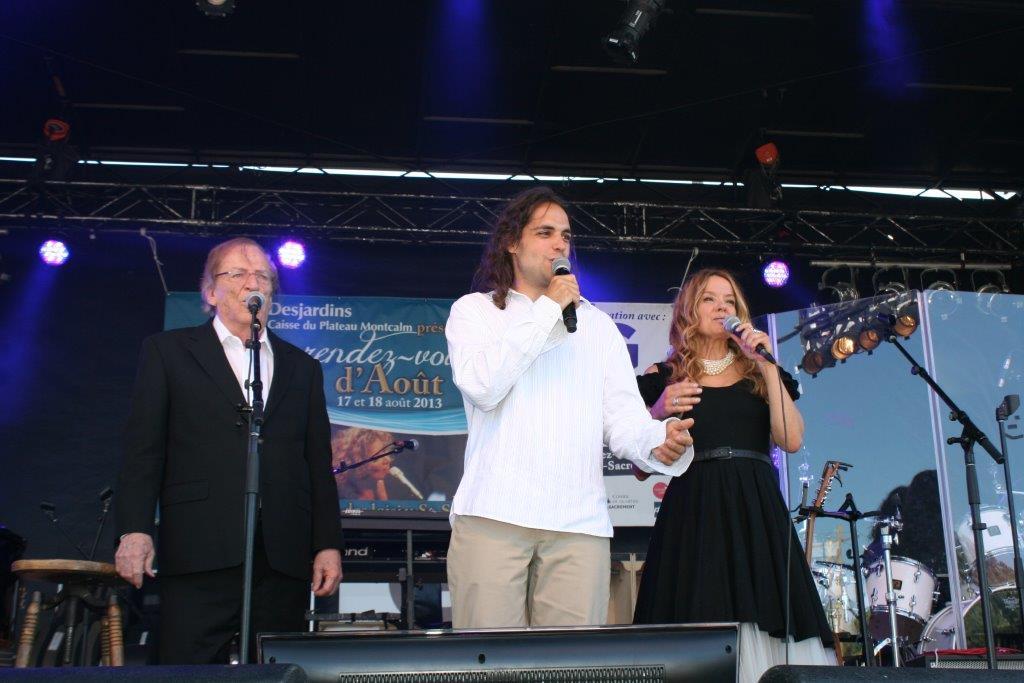 Avec Jean Lapointe & Chantal Blanchais   Photo : Mélisande Rodrigue, 2013