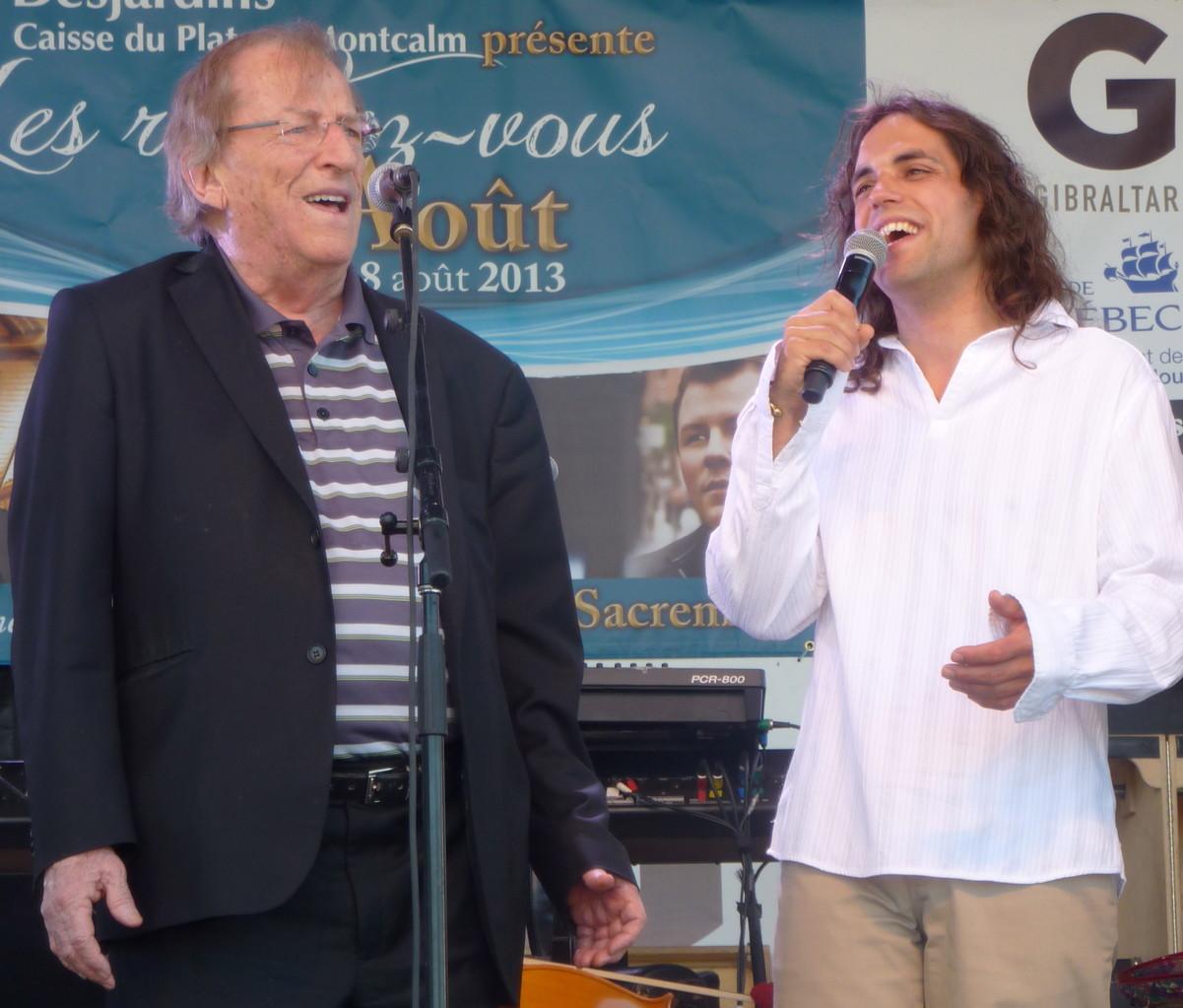 Avec Jean Lapointe   Photo : Mélisande Rodrigue, 2013