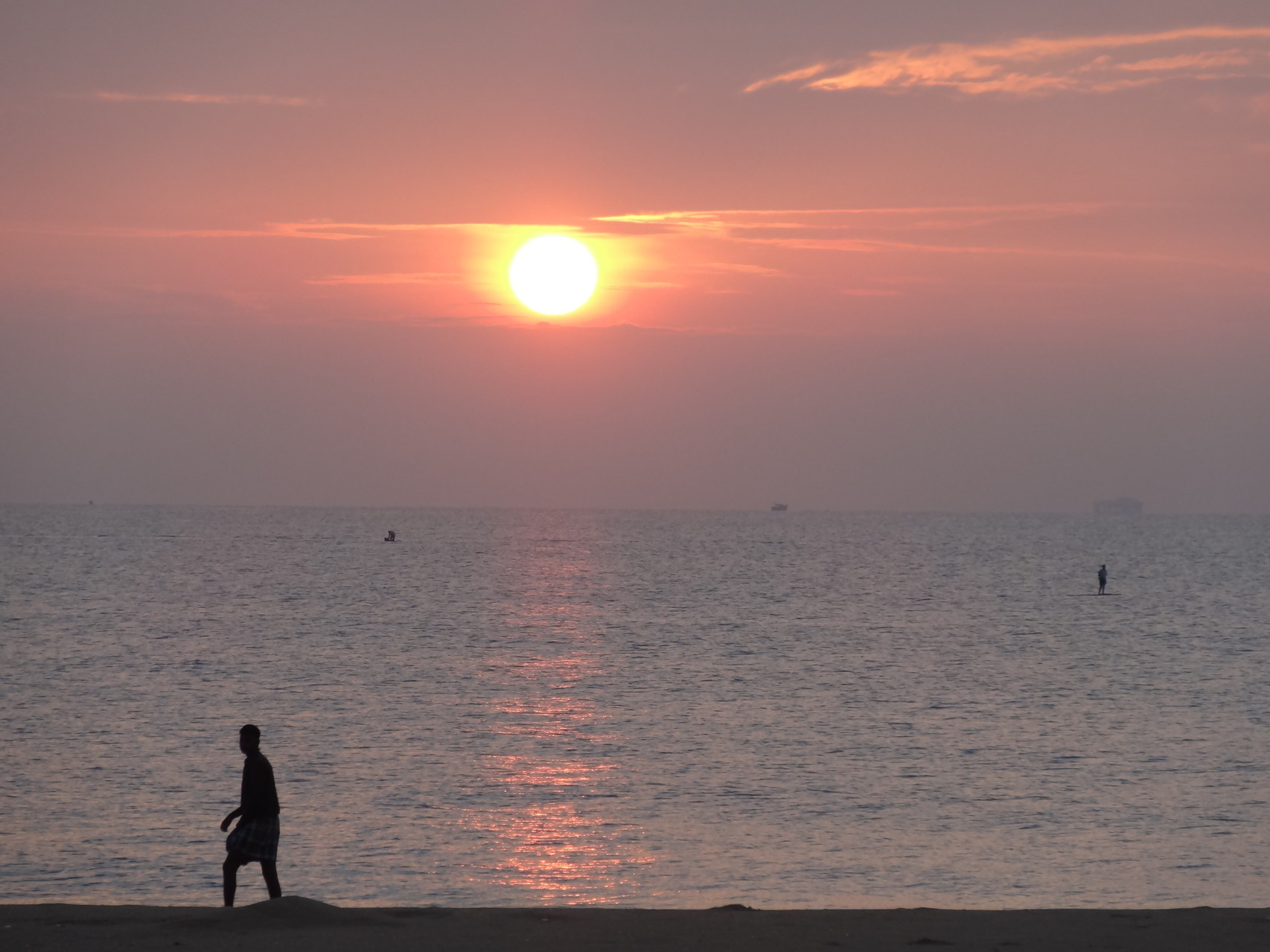 Marche au levé de soleil