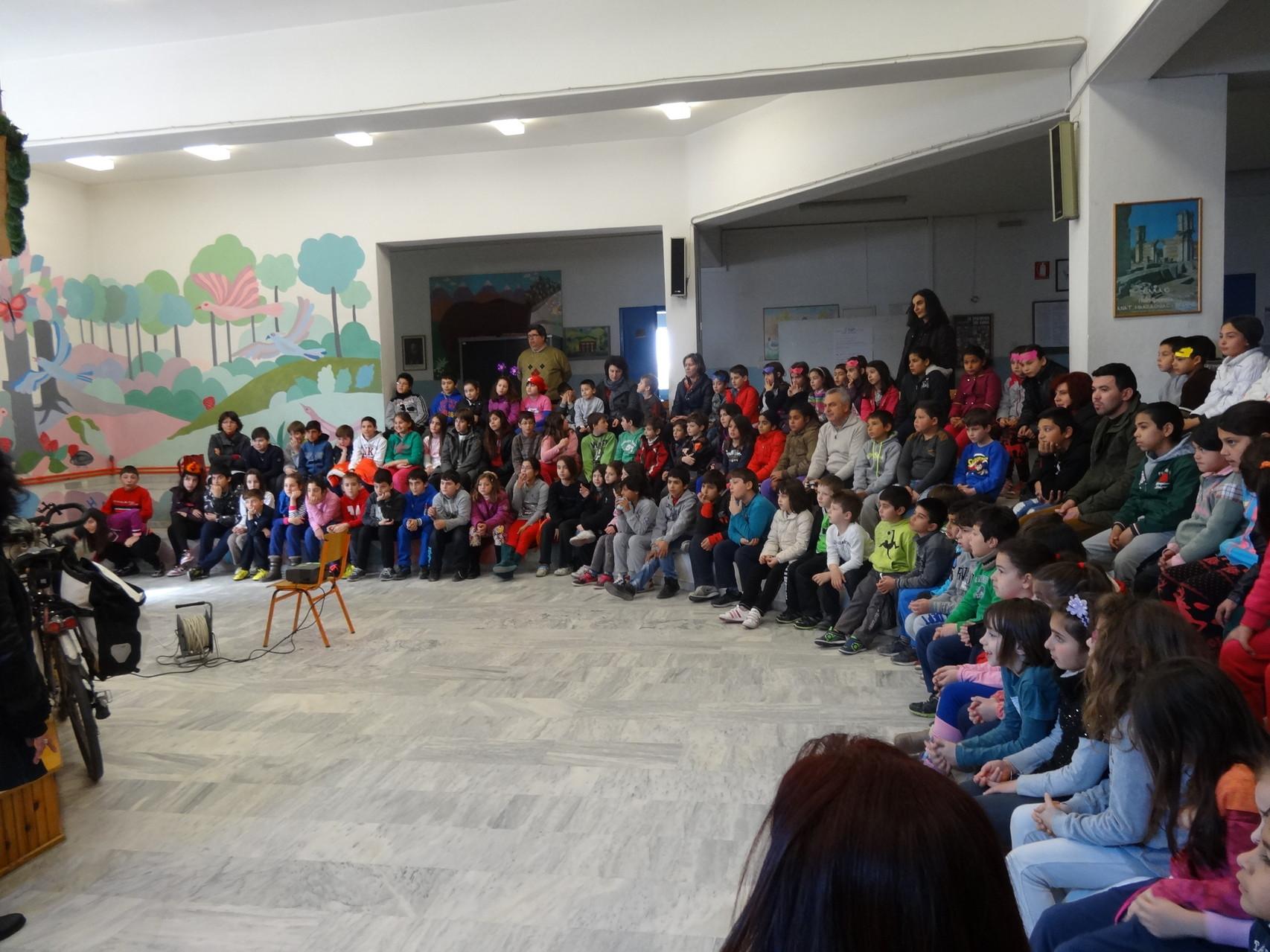 Présentation à l'école de Komotini