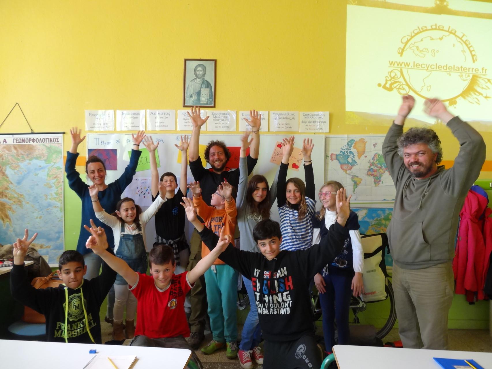 A l'école primaire de Paranesti