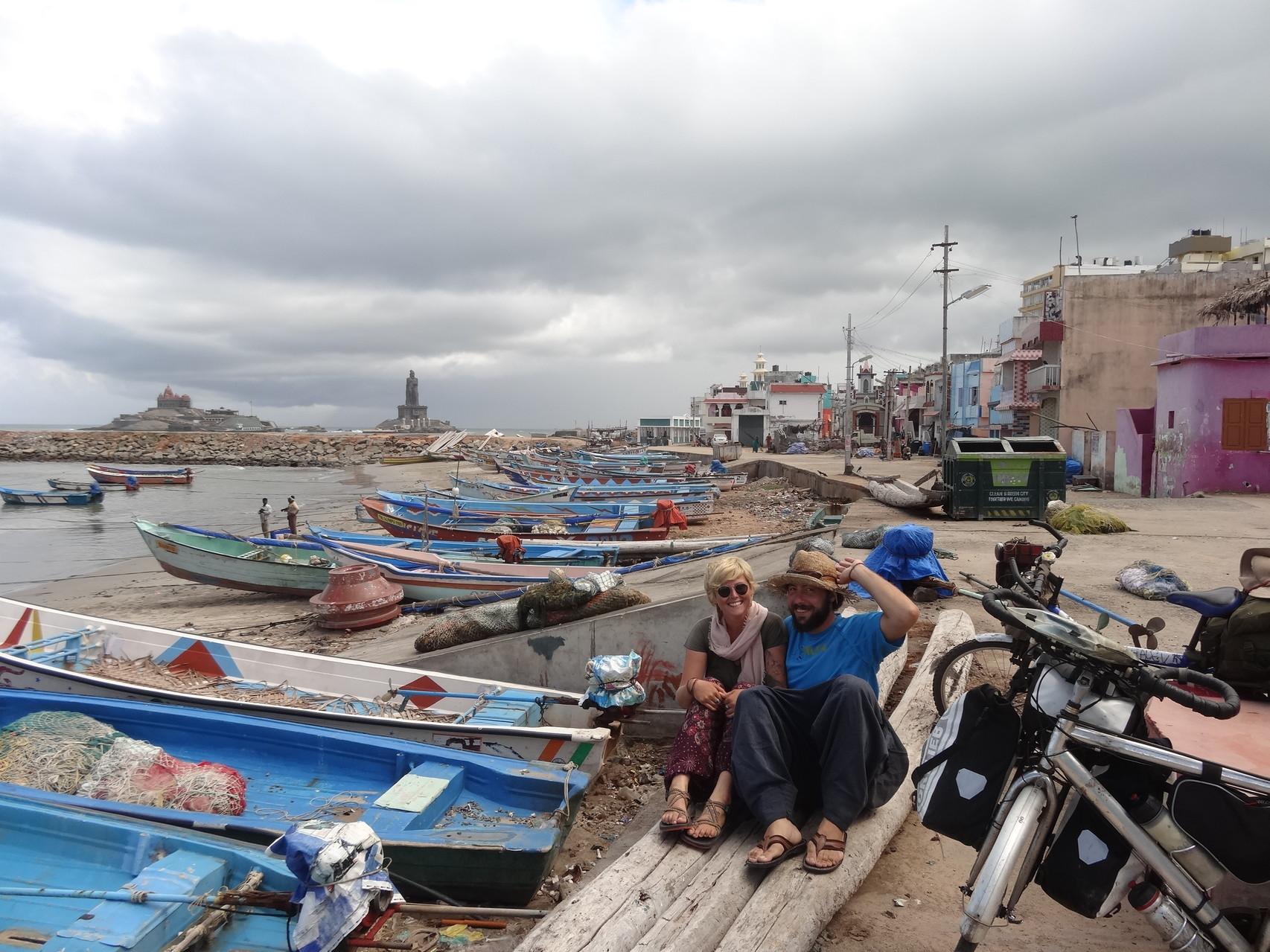 Kanyakumari, photo à l'extrême sud de l'Inde, le bout du monde!