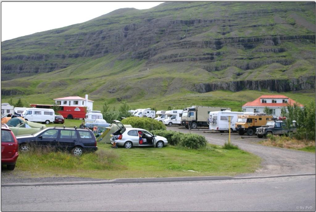 Campingplatz in Seydisfjördur