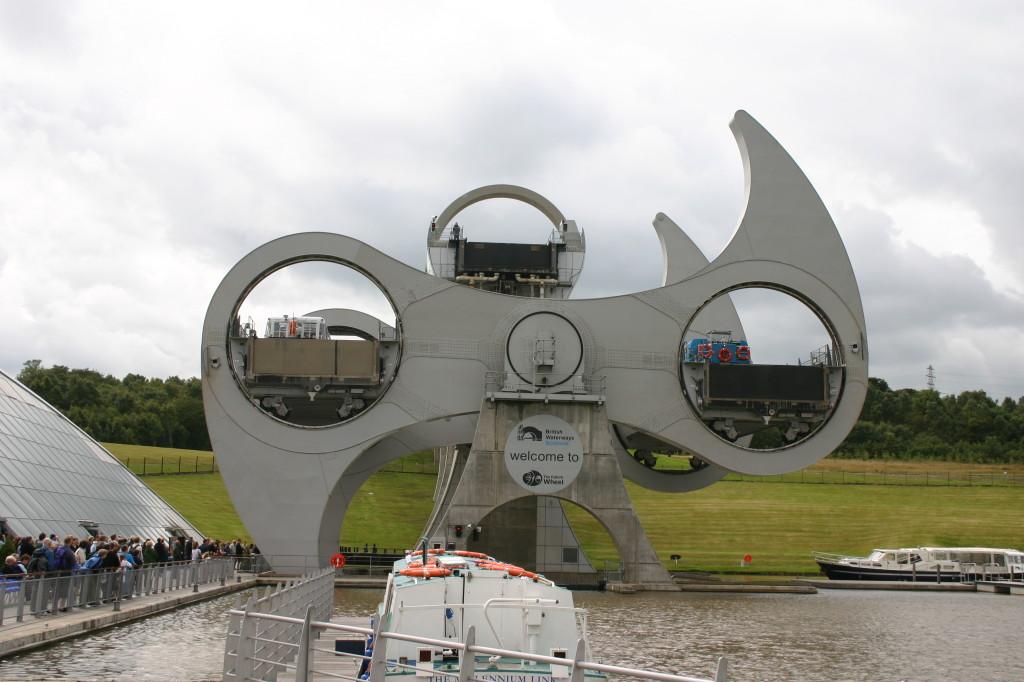 Mal etwas anderes: Schiffschleuse in Schottland